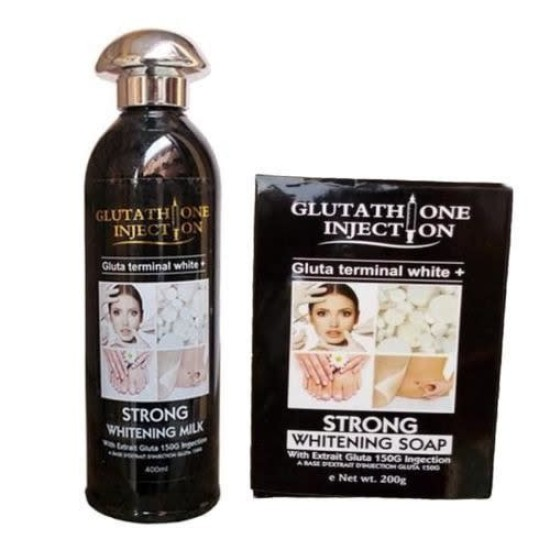 Glutathione Injection Strong Whitening Milk Lotion and Whitening Soap