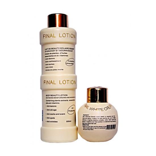 Final White Beauty Set Body Lotion & Face Cream