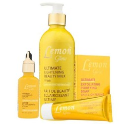 Lemon Glow Ultimate Lightening Beauty Products Set