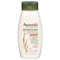 AVEENO ACTIVE NATURALS DAILY MOISTURIZING YOGURT BODY WASH, APRICOT AND HONEY
