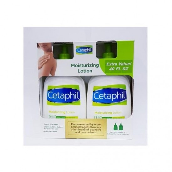 Cetaphil Moisturizing Fragrance Free Lotion Body And Face ( 591ml X 2