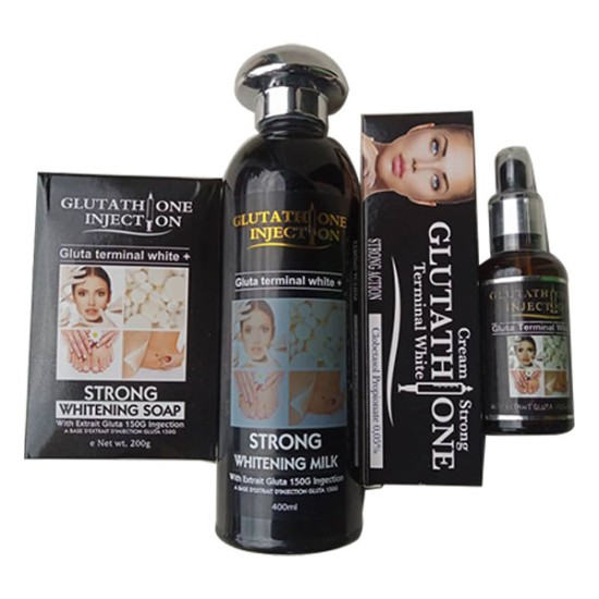 Glutathione Injection soap serum tube and lotion set