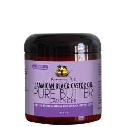 SUNNY ISLE BLACK JAMAICAN BLACK CASTOR OIL PURE BUTTER ( LAVENDER ) 4 OZ