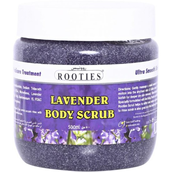 Rooties Lavender Body Scrub, 500 ml