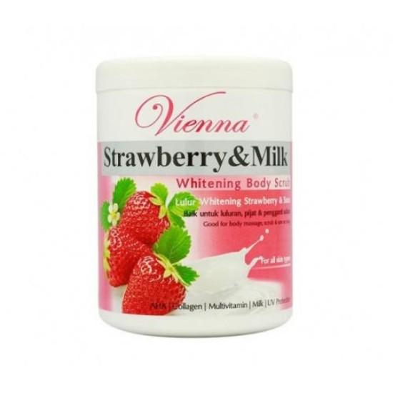 Vienna Whitening Body Scrub Strawberry 1kg