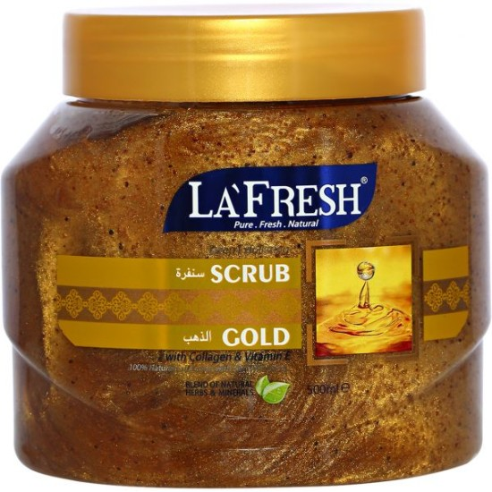 La Fresh Gold Face Scrub, 500 ml