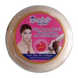 SOMPHUTIP EXTRA BEAUTY HERBAL SOAP GOAT MILK MIX COLAGEN