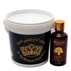 Al Taghziah Super Moroccan Soap -600g & Moroccan Argan Oil -50ml